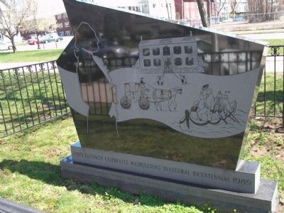 Washington's Inaugural Bicentennial Marker image. Click for full size.