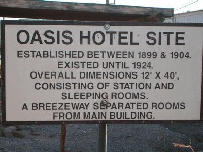 Oasis Hotel Site Marker image. Click for full size.