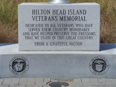 Hilton Head Island Veterans Memorial Marker Photo, Click for full size
