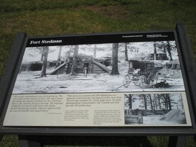 Fort Stedman Marker Photo, Click for full size