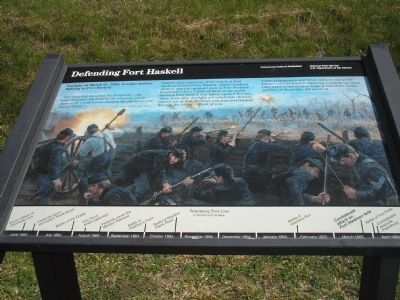 Defending Fort Haskell Marker image. Click for full size.