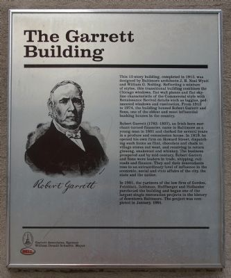 The Garrett Building Marker image. Click for full size.