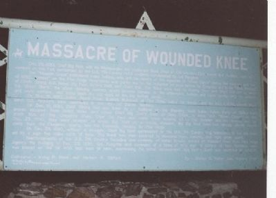 Massacre of Wounded Knee Marker (front) Photo, Click for full size