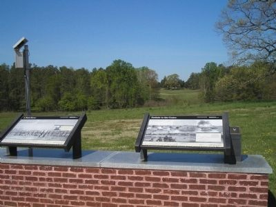 Markers on the Site of the Taylor Farm image. Click for full size.