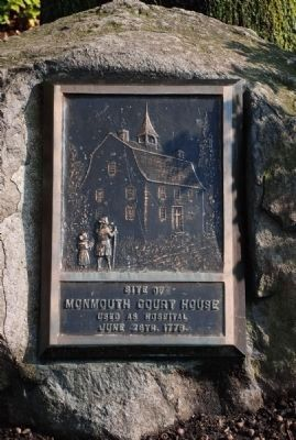 Monmouth Court House Site Marker image. Click for full size.