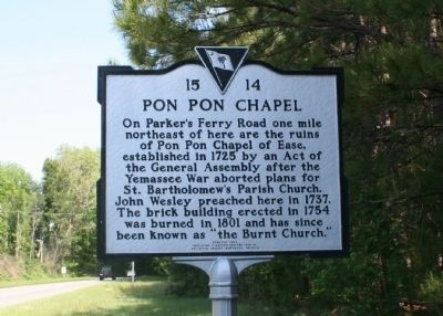 Pon Pon Chapel Marker Photo, Click for full size