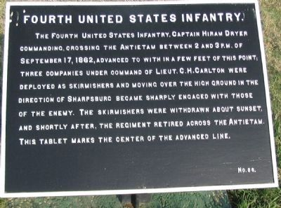 Fourth U.S. Infantry Tablet image. Click for full size.