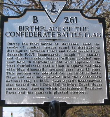 Birthplace of the Confederate Battle Flag Marker image. Click for full size.