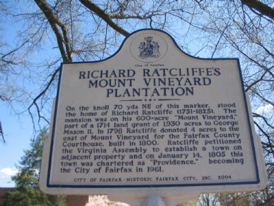 Richard Ratcliffe's Mount Vineyard Plantation Marker image. Click for full size.