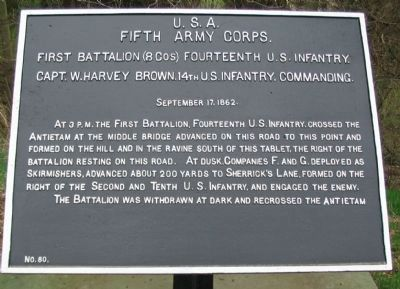 1st Battalion, 14th U.S. Infantry Tablet image. Click for full size.