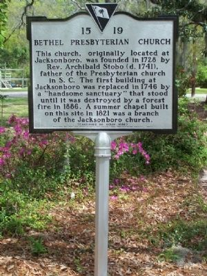 Bethel Presbyterian Church Marker Photo, Click for full size
