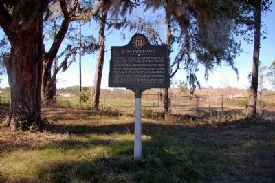 Doctortown Marker in 2008 with Rayonier Mill in distance Photo, Click for full size