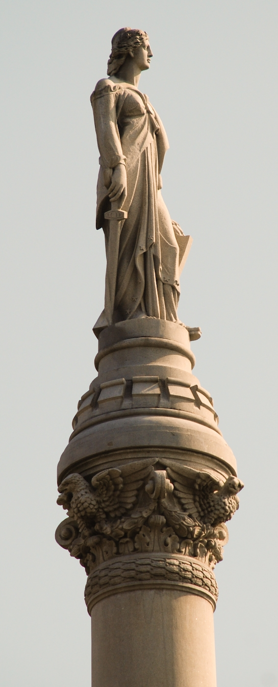 Right profile of Lady Liberty