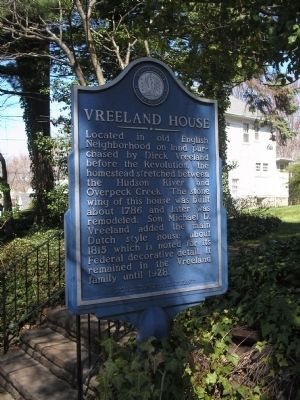 Vreeland House Marker Photo, Click for full size