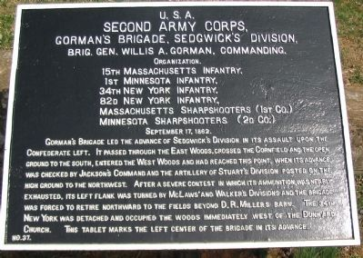 Gorman's Brigade Tablet image. Click for full size.