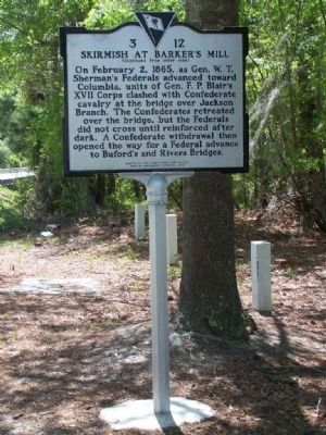 Skirmish at Barker's Mill Marker Photo, Click for full size