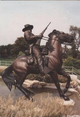 Buffalo Soldier Memorial, Fort Leavenworth, Kansas. Photo, Click for full size