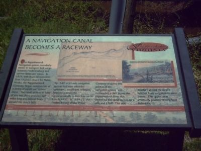 A navigation canal becomes a raceway Marker image. Click for full size.