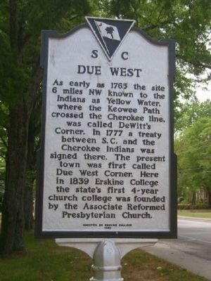 Due West Marker Photo, Click for full size