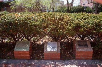 The three markers in front of St. Mary's Seminary Chapel image. Click for full size.