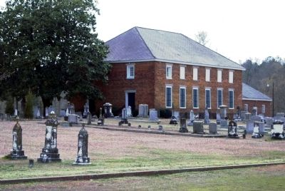 Cedar Springs A.R.P. Church and Cemetery -<br>Front (East) Facade image. Click for full size.