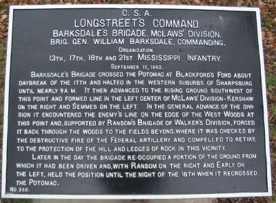 Barksdale's Brigade Tablet image. Click for full size.
