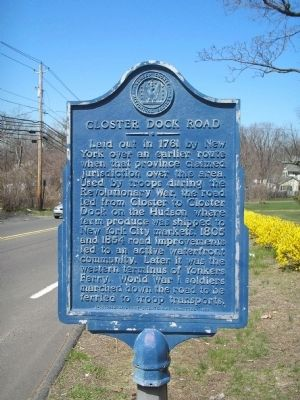 Closter Dock Road Marker Photo, Click for full size
