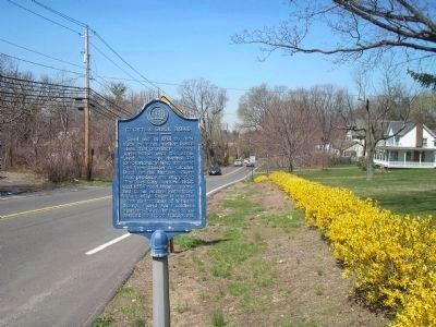 Closter Dock Road and Marker Photo, Click for full size