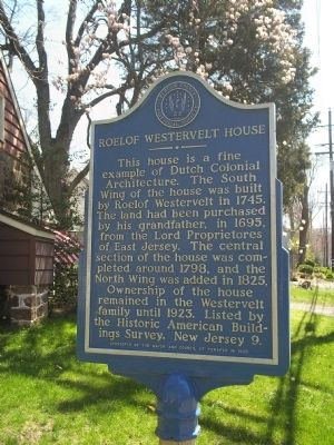 Roelof Westervelt House Marker image. Click for full size.
