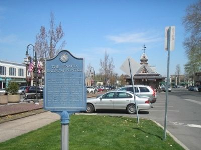 Marker with Station in Background image. Click for full size.