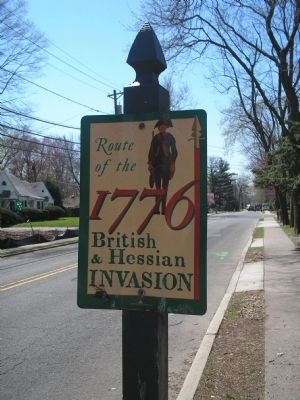 British & Hessian Invasion Marker image. Click for full size.