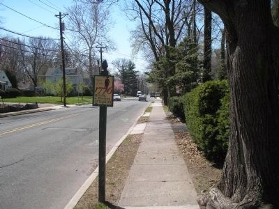 Invasion Marker on Tenafly Road image. Click for full size.