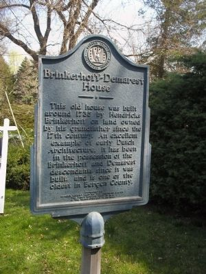 Brinkerhoff-Demarest House Marker Photo, Click for full size