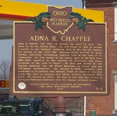 Adna R. Chaffee Marker image. Click for full size.