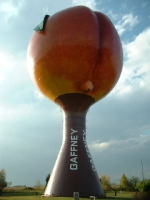 Travellers know Gaffney from the Peachoid Peach water tower located along Interstate 85. Photo, Click for full size