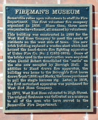 Fireman's Museum Marker image. Click for full size.