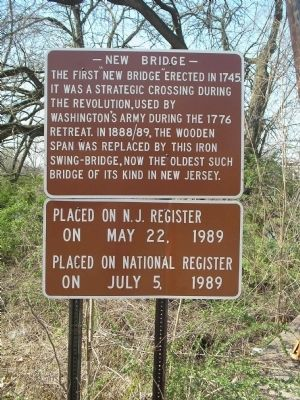 New Bridge Marker Photo, Click for full size
