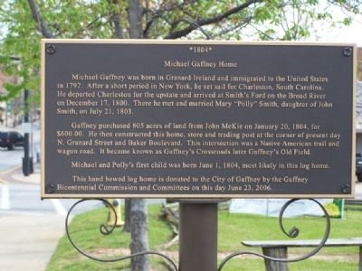 Michael Gaffney Home Marker image. Click for full size.