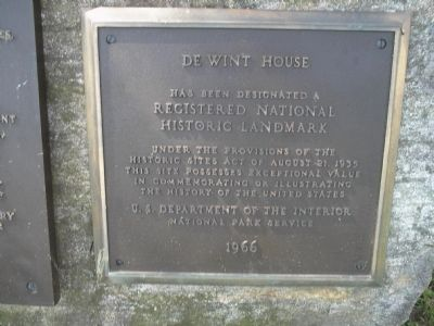 De Wint House Marker image. Click for full size.