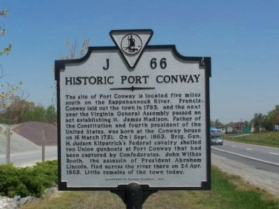 Historic Port Conway Marker image. Click for full size.
