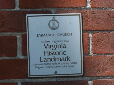 Emmanuel Church Plaque image. Click for full size.