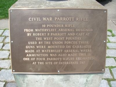 Civil War Parrott Rifle - Watervliet, NY image. Click for full size.