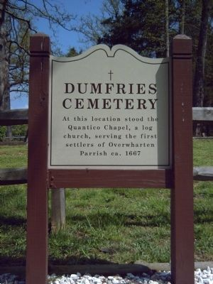 Dumfries Cemetery Marker Photo, Click for full size