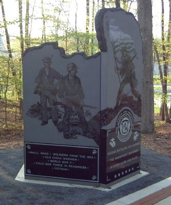Second Battalion, 4th Marines Marker </b>(left side) image. Click for full size.