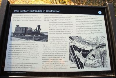 19th Century Railroading in Bordentown Marker image. Click for full size.