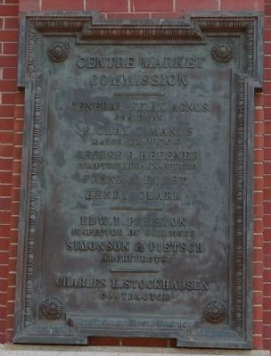 Centre Market Commission marker Photo, Click for full size