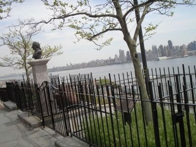 Marker in Weehawken, NJ Photo, Click for full size