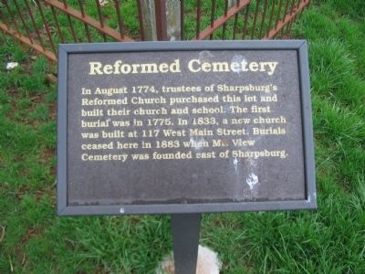 Reformed Cemetery Marker image. Click for full size.