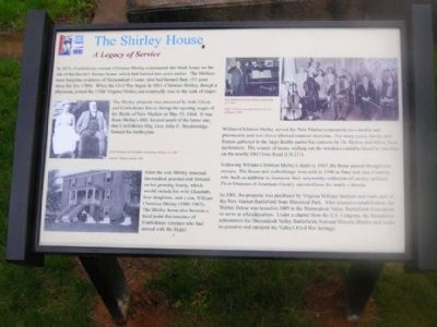The Shirley House Marker image. Click for full size.