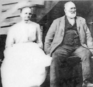 Christian and Elizabeth Rosenberger Shirley, ca. 1900 Photo, Click for full size